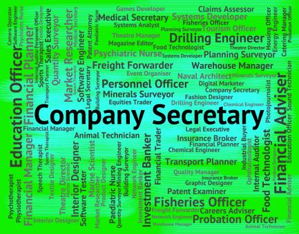 Free Stock Photo of Company Secretary Means Clerical Assistant And Administrator