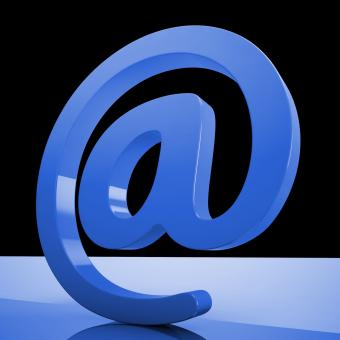 Free Stock Photo of At Sign Mean Email Correspondence on Web