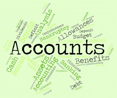 Free Stock Photo of Accounts Words Indicates Balancing The Books And Accounting
