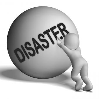 Free Stock Photo of Disaster Uphill Character Shows Crisis Trouble Or Calamity