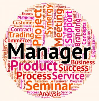 Free Stock Photo of Manager Word Means Text Wordcloud And Principal