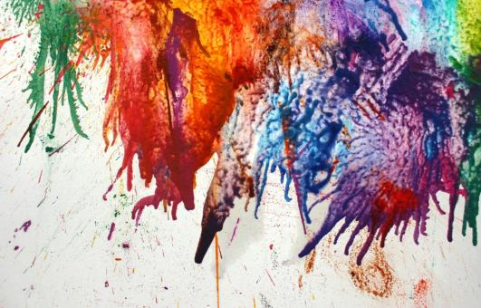 Free Stock Photo of Random Colorful Paint Splat Background