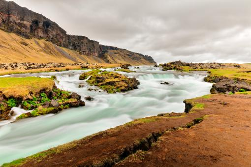 Free Stock Photo of Rugged Iceland Silk Stream