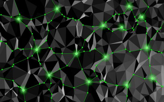 Free Stock Photo of Abstract Network with Delaunay Triangles
