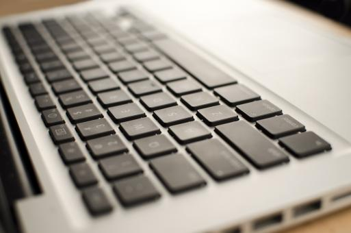 Free Stock Photo of White Laptop Keyboard