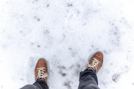 Free Stock Photo of Standing on Frosted Ground