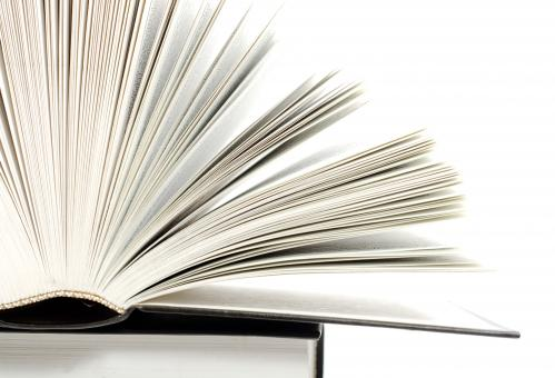Free Stock Photo of Open Book - Side View