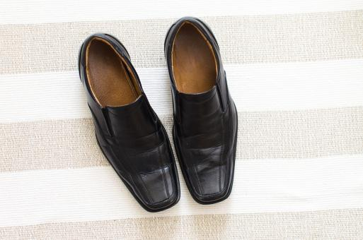 Free Stock Photo of Black Gentleman Shoes