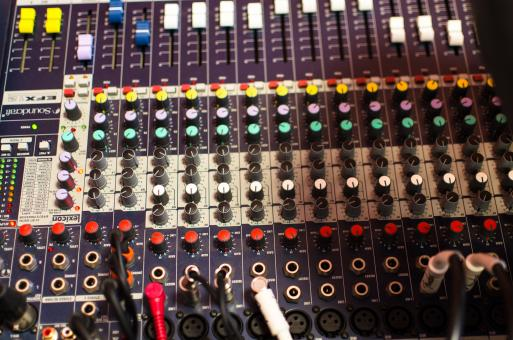 Free Stock Photo of Mixer Board