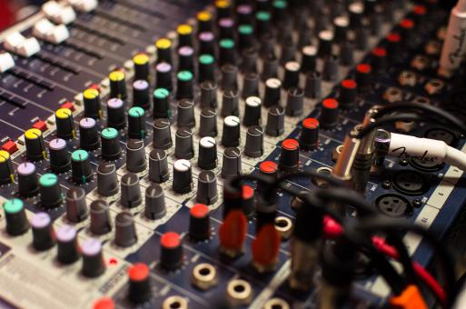 Free Stock Photo of Mixer Board Background