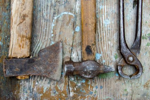 Free Stock Photo of Old carpentry tools