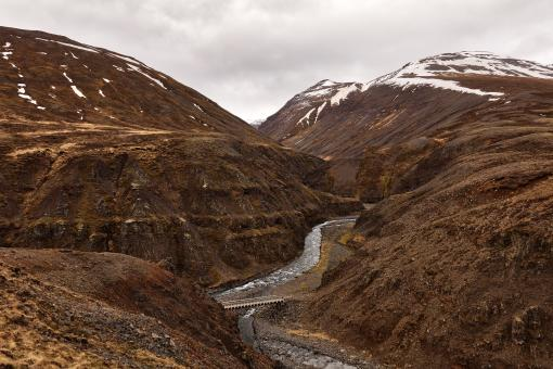 Free Stock Photo of Iceland Mountain River Pass
