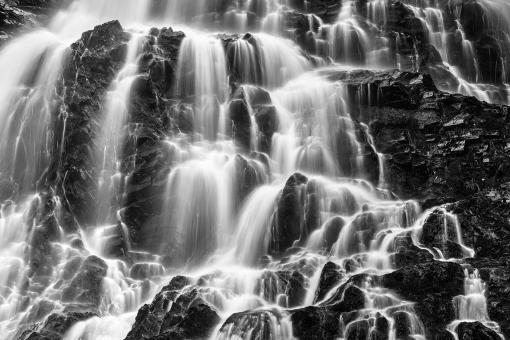 Free Stock Photo of Hays Rugged Falls - Black & White