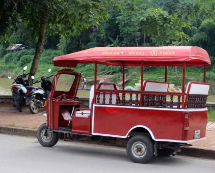 Free Stock Photo of Red Tuk Tuk