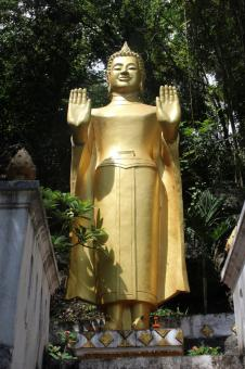 Free Stock Photo of Golden Buddha Statue, Laos