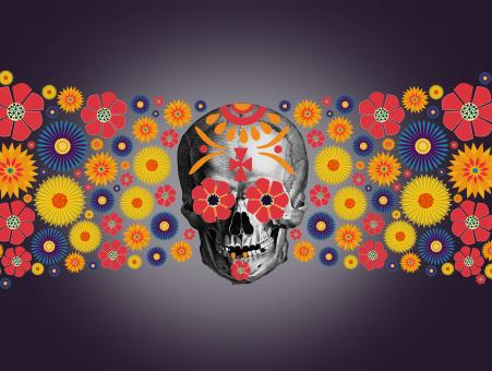 Free Stock Photo of  Dia de los Muertos - Day of the Dead - Illustration
