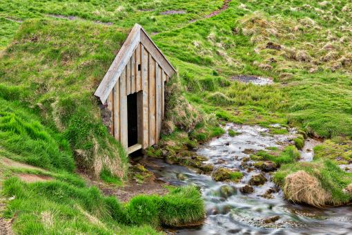 Free Stock Photo of Turf Water House