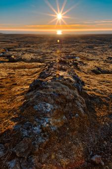 Free Stock Photo of Iceland Sunburst