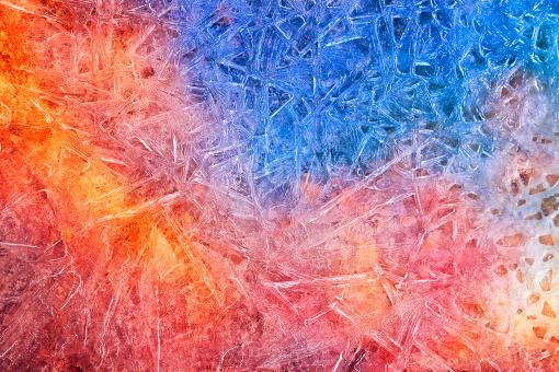 Free Stock Photo of Vibrant Ice Cracks