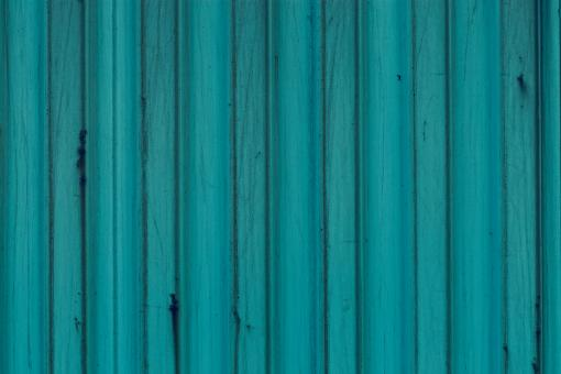 Free Stock Photo of Blue Corrugated Fence Texture