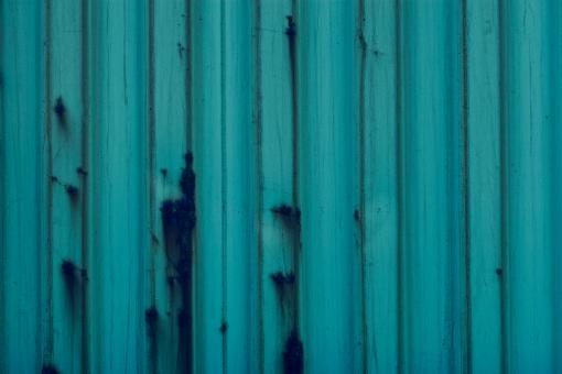 Free Stock Photo of Blue Corrugated Surface