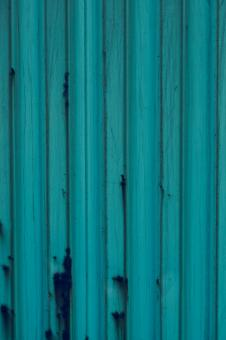 Free Stock Photo of Blue Corrugated Metal Surface