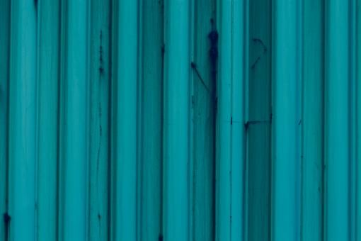 Free Stock Photo of Blue Corrugated Metal Background