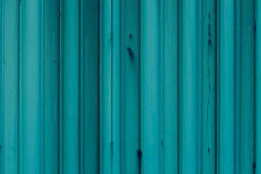 Free Stock Photo of Blue Corrugated Metal Texture