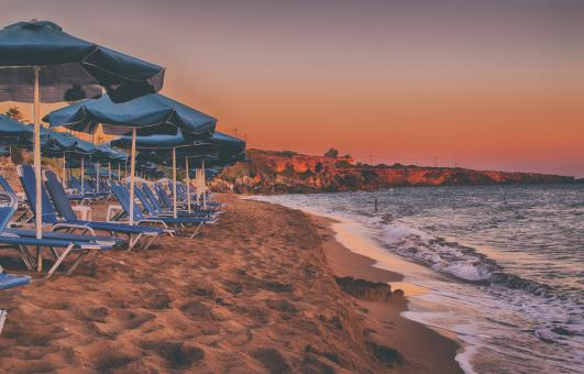 Free Stock Photo of Ammes Beach Sunset in Kefalonia Greek Island