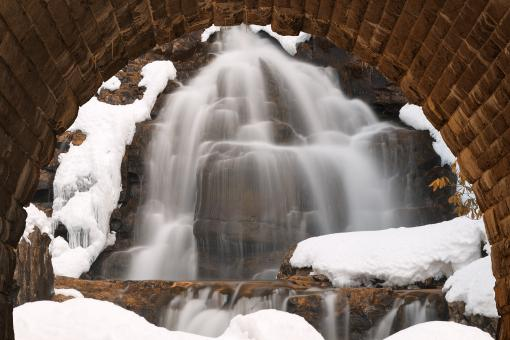 Free Stock Photo of Winter Hawk Arch Falls