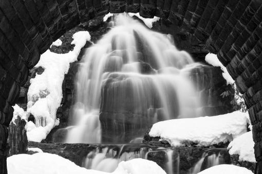 Free Stock Photo of Winter Arch Waterfall