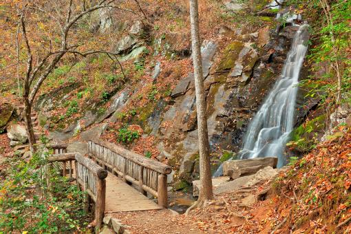 Free Stock Photo of Juney Whank Bridge Falls