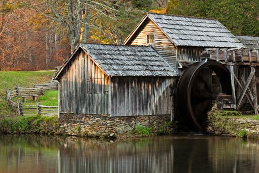 Free Stock Photo of Autumn Mabry Mill