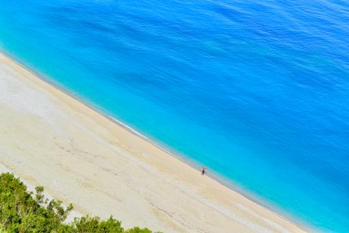 Free Stock Photo of Myrtos Beach Aerial View Greece