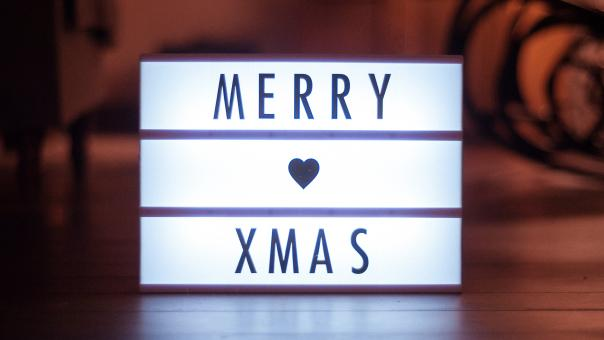 Free Stock Photo of Merry Christmas Light