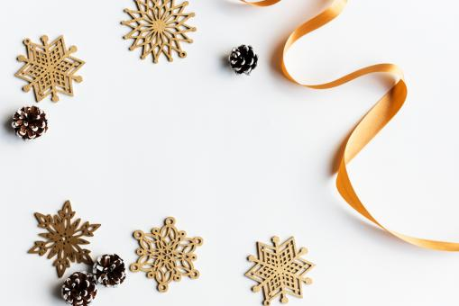 Free Stock Photo of Christmas Ribbon and Stars