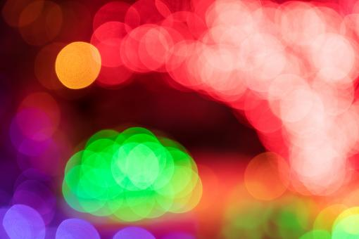 Free Stock Photo of Bokeh Arch Lights