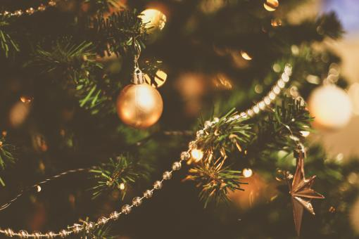 Free Stock Photo of Christmas Tree Ornaments