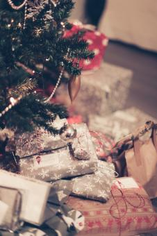 Free Stock Photo of Presents under the Christmas Tree