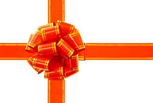 Free Stock Photo of Red ribbon and bow