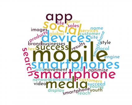 Free Stock Photo of Mobile Device Word Cloud