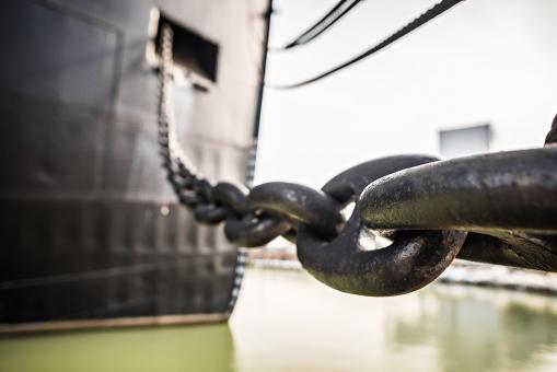 Free Stock Photo of Heavy Duty Anchor Chain