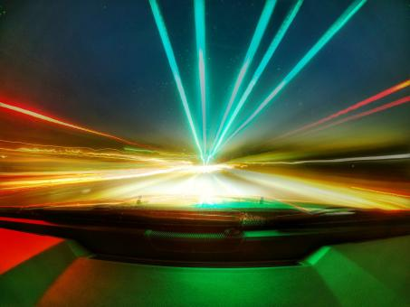 Free Stock Photo of High Speed Light Trails
