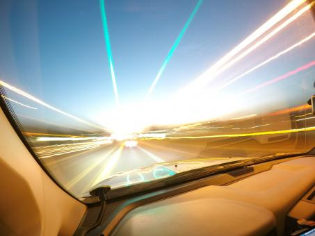 Free Stock Photo of Driving Fast - Light Trails