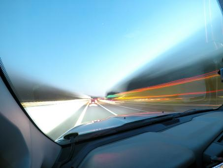 Free Stock Photo of Blurred View from Fast Driving