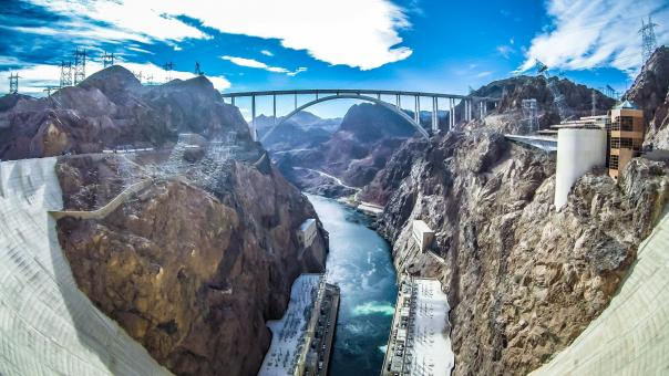 Free Stock Photo of Hoover Dam Memorial Bridge