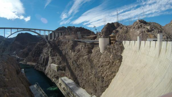 Free Stock Photo of Hoover Dam Gigantic Structure