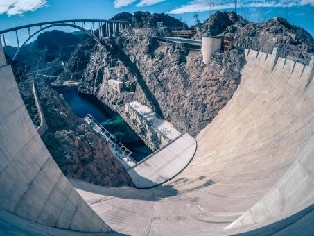 Free Stock Photo of Hoover Dam From Above