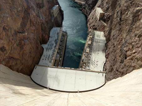 Free Stock Photo of Looking Down from Hoover Dam