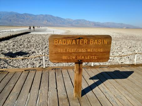 Free Stock Photo of Badwater Basin Sign